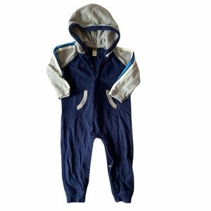 Tea collection 12-18 m Romper in blue and grey
